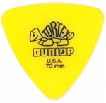 Jim Dunlop Tortex Triangle .73MM Yellow, bag of 72