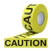 CAUTION RIBBON 3 X 1000 FT YELLOW PRINTED BLACK --- NO ADHESIVE