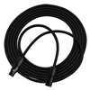 RapcoHorizon GPRO Black Mic Cable Neutrik Black XX Series XLRF-XLRM With Gold Contacts - 25 Feet