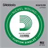 D'Addario  Single XL Nickel Wound 028