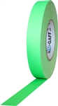 Pro Tapes 1 Inch x 50 Yards Pro Gaff Tape - Fluorescent Green