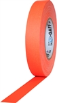 Pro Tapes 1 Inch x 50 Yards Pro Gaff Tape - Fluorescent Orange