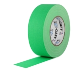 Pro Tapes 2 Inch x 50 Yards Pro Gaffer Tape - Fluorescent Green