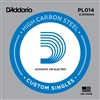 D'Addario Single Plain Steel 014