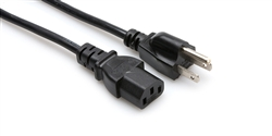 Hosa PWC-XX Power Cord 18 AWG, IEC C13 to NEMA 5-15P