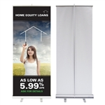 Retractable Banner with Stand 33X80