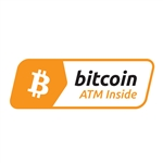 3 x 1 in Bitcoin ATM Inside Decal