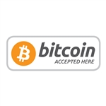 4 x 1.5 in Bitcoin Accepted Here Decal