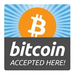 6 x 6 in Bitcoin Accepted Here Decal