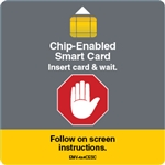 4 x 4 in Chip Enabled Smart Card Decal