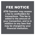 "GetBranded.com-4"" x 4"" Fee Notice Decal, Grey"