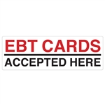 "12""x4"" EBT Card Accepted Here"