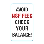 GetBranded.com-Avoid NSF Fees Check Your Balance Decal