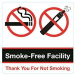 5x5 in Smoke Free Facility Double Sided Decal