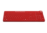 E-Cool Keyboard with Cool-Connect for Downtime-Workstations with Cool-Connect with Lifetime Warranty (USB) (Red) | ECOOL/R5/LT from WetKeys Washable Keyboards.