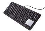 iKey Sealed Waterproof Keyboard at WetKeys.com - Medical Keyboard with Touchpad - EKS-97-TP - Replaces earlier model EK-97-TP