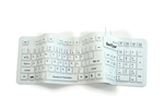 Used for Infection Control & Equipment Protection, the Pro-Grade Full-size Flexible Silicone Keyboard KBSTFC106-W can be cleaned by washing with soap and water, sanitized or disinfected.