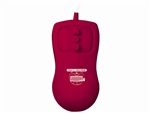 Used for Infection Control & Equipment Protection, the E-Cool Petite-Mouse Compact Optical Red Mouse PM-R5-LT can be cleaned by washing with soap and water, sanitized or disinfected.