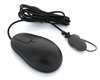 Silver Surf™ Washable Corded Optical Mouse With Built-in Seal Glide™ Scrolling System - Dishwasher Safe & Antimicrobial (Black)(USB) | SM7