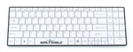 Clean Wipe Medical Grade Chiclet Bluetooth Keyboard - Detachable Cord, Waterproof, Antimicrobial Product Protection (White) (USB) | SSKSV099BT by Seal Shield