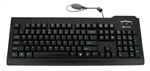 Image of Silver Seal Medical Grade True Type Keyboard - Quick Connect, Dishwasher Safe & Antimicrobial (Black) (USB) | SSKSV207