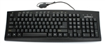 Silver Seal™ Washable Meditech Magic Medical Grade Keyboard - Dishwasher Safe & Antimicrobial (Black)(USB) | SSKSVMM107
