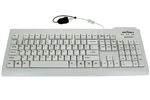 Image of Silver Seal Medical Grade True Type Keyboard - Quick Connect, Dishwasher Safe & Antimicrobial (White) (USB) | SSWKSV207