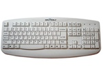 Silver Storm™ Washable Medical Grade Keyboard - Dishwasher Safe & Antimicrobial (White)(USB) | STWK503
