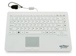 Seal Touch™ Washable Silicone All-in-One Keyboard With Built-in Touchpad Pointing Device - Dishwasher Safe & Antimicrobial (White)(USB)(Gen 2 Design) | SW87P2