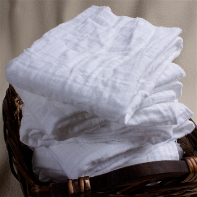 Muslin Facial Cloths - Set of 8