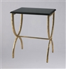 Black With Gold Legs Accent Table