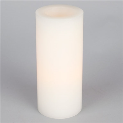"9"" Flameless Pillar - White"