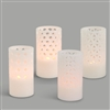 Carved Flameless Candles - Set of Four