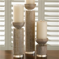 Bleached Wood Pillars
