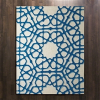 Window Rug Blue