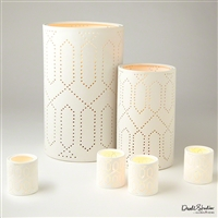 Dotted Trellis Lanterns