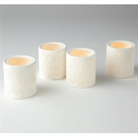 Dotted Trellis Votives