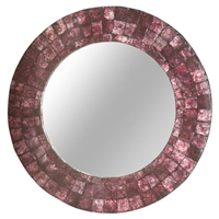 Small Plum Capiz Mirror