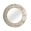 Silver Capiz Small Mirror