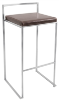 Fuji Brown Stacker Bar Stool