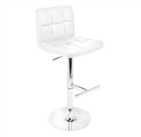 White Lager Bar Stool