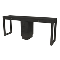 Linea Double Manicure Table - Two Drawers