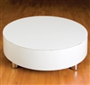 Round White Gloss Display Platform