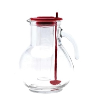 Glass Ice Tube Pitcher
