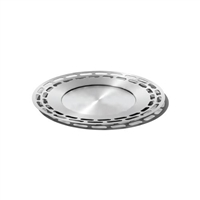 Brushed Finish Modern Round Tray