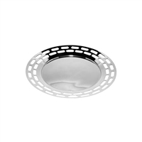 Mirrored Finish Modern Round Tray