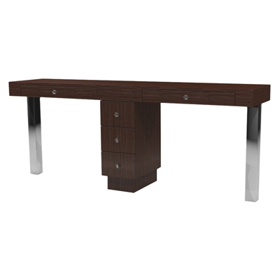 Tory Double Nail Table - Three Drawers