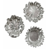 Silver Flowers Wall Art, Set of Three