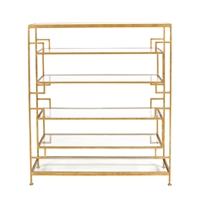 Doris Gold Leaf Shelving