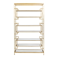 Lamar Gold Leaf Shelving
